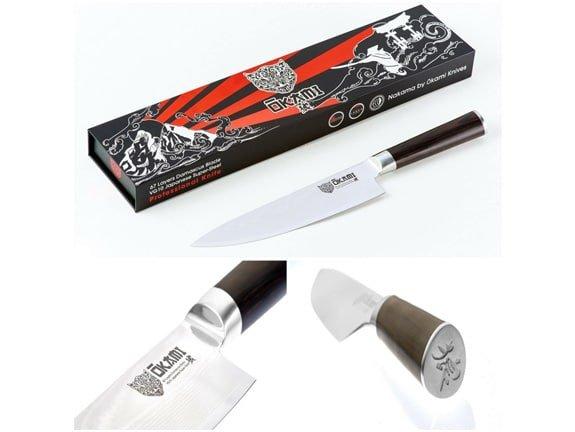 handling the okami 8-inch chefs knife
