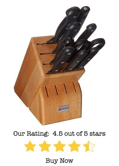 wusthof gourmet 10 piece knife block set review