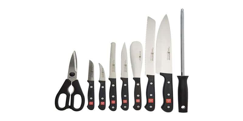 Wusthof Gourmet 10 Piece Knife Block Set