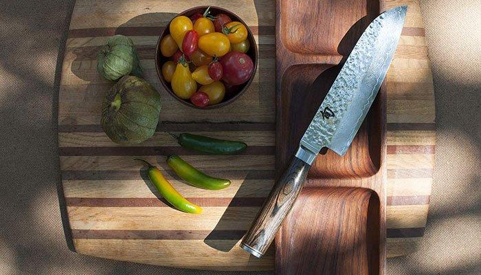 handling shun premier santoku knife