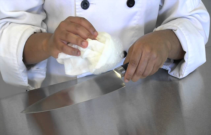 clean & care of mercer knife