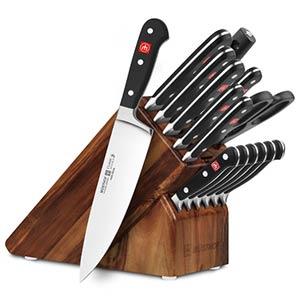 Walnut Knife Block Set